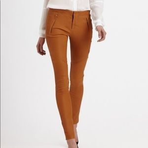 A.L.C. Brown Charlotte Stretch Leather Pants